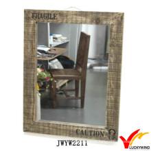 Grande, madeira, quadro, Áspero, antigas, Retangular, parede, espelho