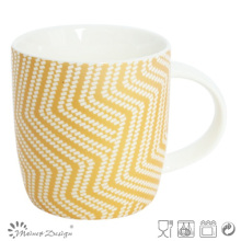 Yellow Color with Fancy Design Dreamy Mug