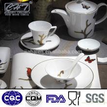 A067 wholesale fine bone china modern chinese style dinner set