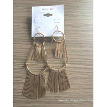 Ethnic Earring with Metal Tassel Informal Occasions