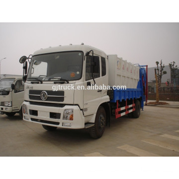 4X2 drive Dongfeng compressor garbage truck for 5-16 cubic meter