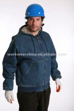 Cotton Polar Fleece Winter Workwear Jean Jacket