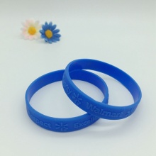 Embossed Walmart High Quality Silicone Wristbands