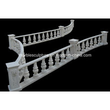 White Carrara Stone Sculpture Stair Balustrade (SY-B007)