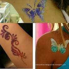 Non-toxic glow in dark tattoo sticker with the beautiful butterfly