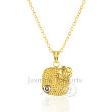 Venta al por mayor de Pyrite 925 collar de plata esterlina