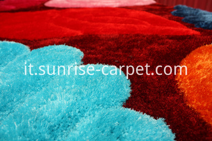 Polyester Shaggy Rug mix yarn Multi Color