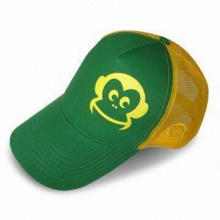 2010 Style Promotional Cap with Printing and Embroidery, Made of Cotton Twill/Mesh
