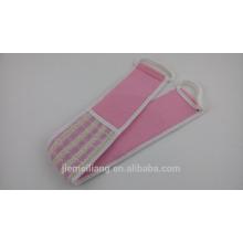 JML 9022 tira de esponja de banho de linho para o corpo com alta qualidade
