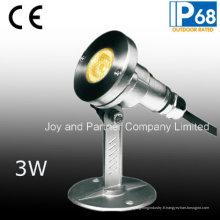 Projecteur sous-marin LED en acier inoxydable 3W (JP95312)