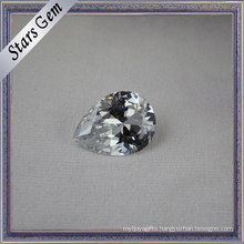 Sparkle Pear Brilliant Excellent Cut White Cubic Zirconia