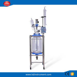 50L Jacketed Chemical Glass Polymerization Reactor