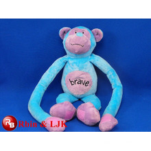 Meet EN71 and ASTM standard ICTI plush toy factory wholesale plush brave monkey toy with long legs