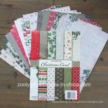Carol de Navidad Carpeta de papel A4 Colecciones de Navidad Paquete de papel de libro de recuerdos
