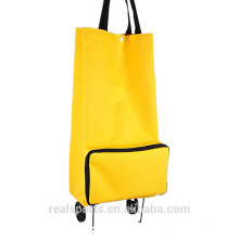 Large Capacity Light Weight Shopping Grocery Trolley Bag Wheel Oxford Fabric Storage Bag
