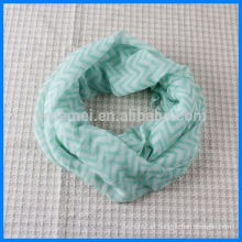 Customized printed infinity scarf chevron