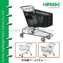 shopping cart with plastic basket