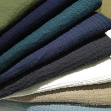11s 55% Linge de lit en coton 45%, tissu de lin en coton plissé