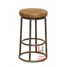 Bar Stool with Wood Top