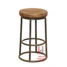 Bar Stool with Wood Top