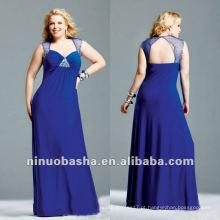 Beaded Stretch Jersey com detalhe de malha Evening Dress 2012
