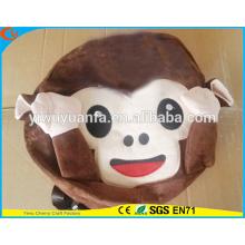 Estilo encantador Estilo elegante Mochila de pelúcia Emoji Monkey Backpack School Bag para crianças