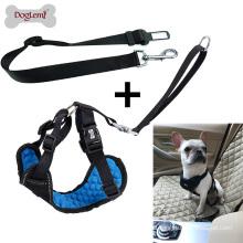 Professional Comfort Nylon Pet Dog Car Seat Belt with Harness Reflecting Safety Dog Belt
