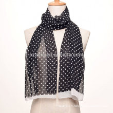 Echarpe en mousseline longue soie en polyester satiné
