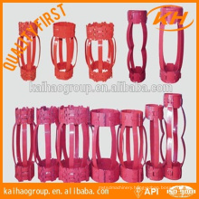 "API 10D 7"" hinged/rigid Non Weld Bow type casing centralizer"