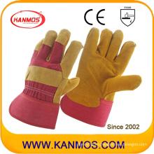Industrial de seguridad Vaca Split cuero Palm trabajo guantes (110111)