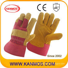 Industrial Safety Cow Split Leather Palm Work Gloves (110111)