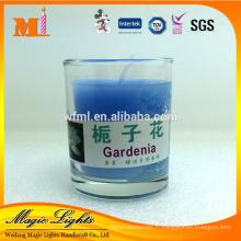 pot de verre remplissant la bougie parfumée de cire à vendre
