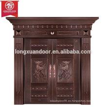 Puertas de entrada personalizadas, puerta de bronce de doble oscilación