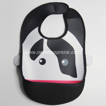 Waterproof neoprene baby bibs for feeding and nursing