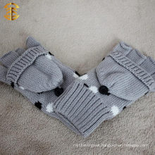 Factory Knit Gloves Half Finger Mitten For Adults
