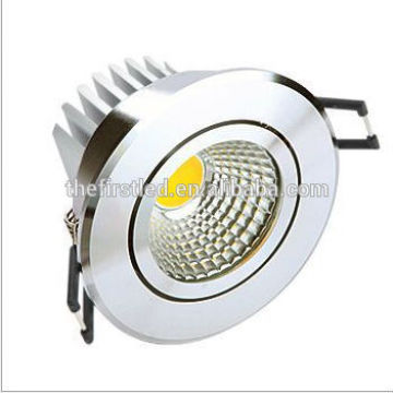 Dimmable llevó downlight, alta calidad COB LED Downlight