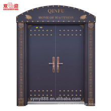Bullet proof outswing exterior entrance wrought iron stainless steel entry door