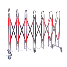 Safe protection stainless steel telescopic fence movable barrier