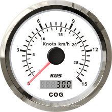 85mm GPS Speedometer 15L with Backlight White Faceplate