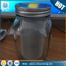 Tubo de filtro de acero al por mayor del café del tarro de albañil / tubo helado del filtro del fabricante del café del té