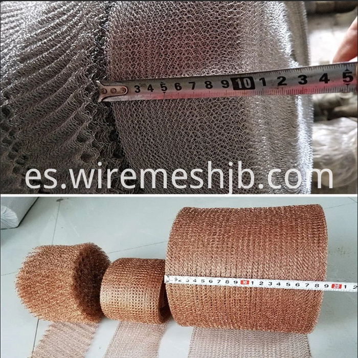 Gas Liquid Filter mesh Knitted Wire Mesh