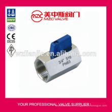 Mini robinet à tournant sphérique 316 F/F fileté extrémités PN63 Mini robinet à tournant sphérique