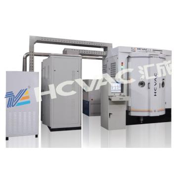 Máquina sanitária do chapeamento do vácuo do ouro da superfície dos mercadorias do banheiro de Hcvac PVD
