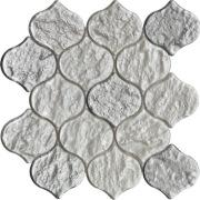 Mosaico de lanterna de cor branca e prata