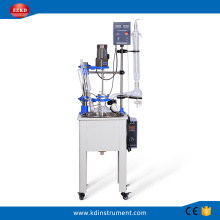 Biotechnology Equipment 10L Lab Single Glass Reactor