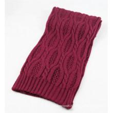 Écharpe tricotée lourde de câble mélangé d'hiver de couleur chaude unisexe (SK166)