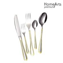 Fourchette et couteau de cuillère de restaurant d'acier inoxydable
