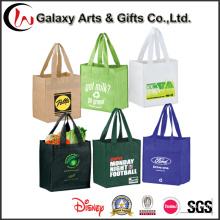 Bolso de compras plástico no tejido del regalo del totalizador promocional para las mujeres
