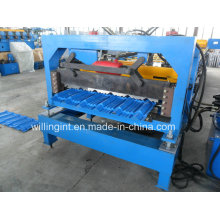 Machine de formage de rouleaux de métal en acier émaillé bleu ciel