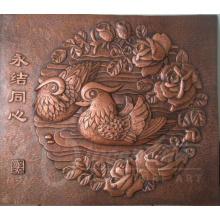 Moderner Hauptdekorationsmetall macht den heißen Verkauf der Bronzeentlastungs-Wandskulptur landschaftlich